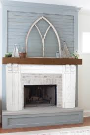 How To Update Brick Fireplace by Fireplace Update Mortar Washed Brick The Lettered Cottage