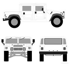 humvee drawing the blueprints com blueprints u003e cars u003e hummer u003e hummer h1 hard top