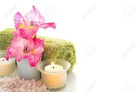imagenes flores relajantes rosa flores gladiolos y suavemente quemar velas de aromaterapia con