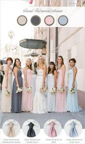 what color matches with pink and blue coordinating the bridesmaids and groomsmen from bows n ties com