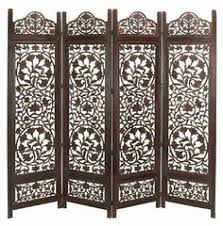 sheesham wood wooden screen partition kashmiri 72x80 4 rajasthan antique brown 4 panel handcrafted wooden room