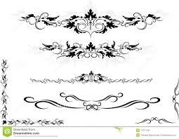 decorative ornament frame corner graphic arts stock vector