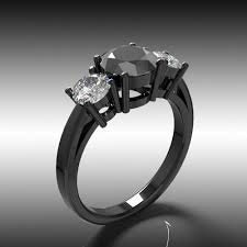 black band engagement rings black engagement rings andino jewellery