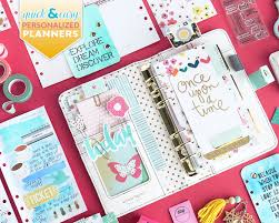 personalized scrapbook and easy tips for personalized planners with janette