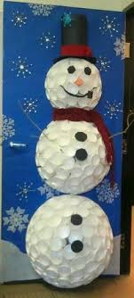 snowman door decorations this just sparked an idea for my future family the day after