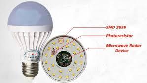 microwave light bulb led e27 5w pure white microwave radar body sensor led light bulb 220v