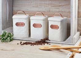 kitchen tea coffee sugar canisters ventana collection made in india coffee tea sugar flour