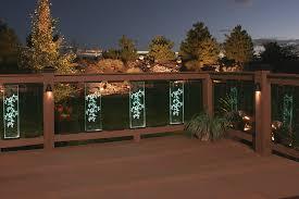 deck post solar lights home stylish deck post solar lights