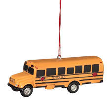 amazon com bus resin hanging christmas ornament size