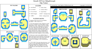 breath of fire ii sky tower map for game boy advance by