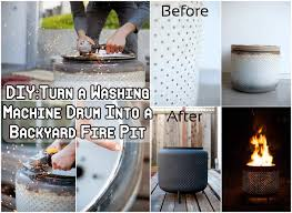 Washing Machine Firepit Turn A Washing Machine Drum Into A Backyard Pit Diy Craft