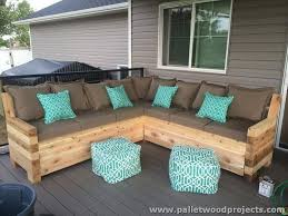 pallet patio sectional sofa plans outdoor sectional pallets and flow