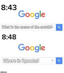Google Search Meme - image tagged in google before after ugandan knuckles uganda google