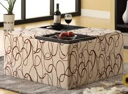 Storage Ottoman Fabric Storage Ottoman Tray Table Editeestrela Design