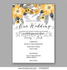 Marriage Invitation Sample Anemone Wedding Invitation Card Template Floral Stock Vector