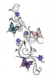 butterflies sketch by waktattoos com i like this idea but