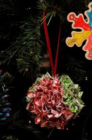 punched fabric ornaments for our tree 12 days of handmade
