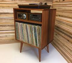 mid century record cabinet micro mid century modern record player console turntable