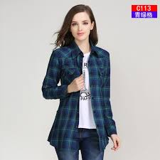 2017 fashion plaid shirt college style s blouses