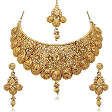 gold plated necklace sets images Buy reeva gold plated zinc traditional necklace sets for women jpg