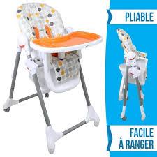 siege haute chaise haute modèle color design monsieur bébé orange achat