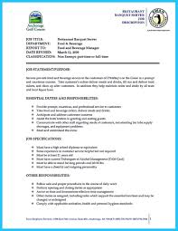 Restaurant Server Job Description For Resume by Sample Resume For Banquet Server Resume For Your Job Application