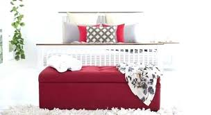 storage bench red red benches red bench sold red leather storage