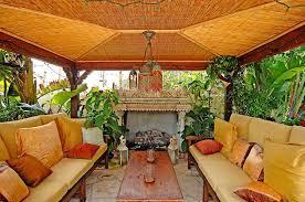 asian patio with outdoor pizza oven u0026 gazebo in malibu ca