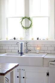 kitchen style white brick wall white farmhouse kitchens white