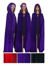 medieval halloween costume women men full length halloween costume crushed velvet hooded cape