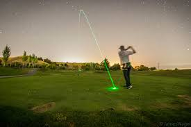 friend took a cool long exposure shot with an illuminated golf