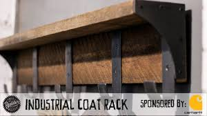 industrial coat rack build and giveaway youtube