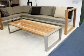 Modern Outdoor Coffee Table Modular Sofa Contemporary Outdoor Batyline Banca Teak By