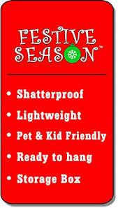 festive season black swirl shatterproof