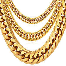 big link necklace images Mens big stainless steel cuban link necklace chain neensjewelry jpg