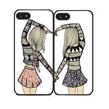 two girls best friends cover case for iphone 4 4s 5 5s se 5c 6 6s