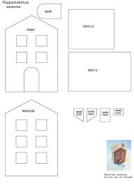 pattern for large gingerbread house 689 best templates images on pinterest christmas crafts