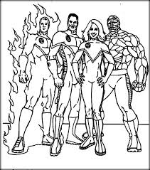 fantastic four coloring pages marvel characters printable coloring