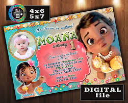2nd Birthday Invitation Card Free Printable Moana Party Invitations Musings Of An Average Mom