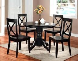 black wooden dining table set grey round dining table and chairs furniture black wooden round