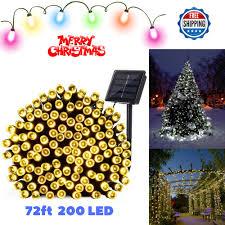 qedertek solar string lights qedertek solar christmas lights 72ft 200 led fairy garden string