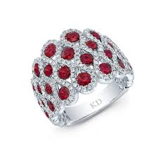 ruby diamond ring white gold color inspired stylish ruby diamond ring