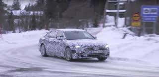 2018 audi a8 spied while winter testing we have video autoevolution