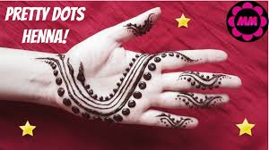 simple and easy henna design pretty dots mehendi tattoo diy