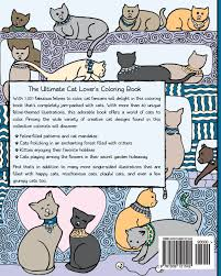 amazon com 1 001 cats a creative cat coloring book