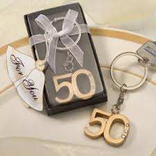 wedding favor keychains 50th wedding anniversary party favor keychains