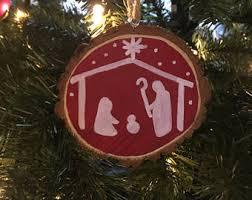 nativity ornament etsy