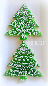 Decorated Christmas Tree Cookies by My Little Bakery Christmas Tree Cookies And Polish Glaze