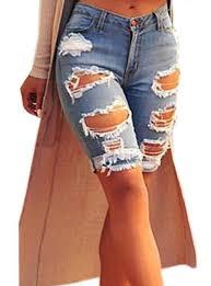 womens blue shorts cheap price