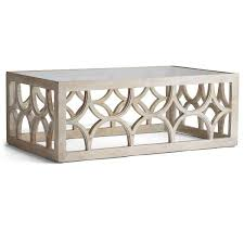 White Wash Coffee Table - white wash arches coffee table
